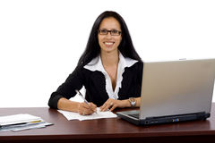 Casual young businesswoman working Stock Image