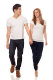 Casual Young Couple Royalty Free Stock Photo