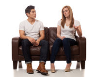 Casual Young Couple Royalty Free Stock Images