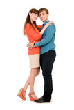 Casual young couple hugging each other Stock Image