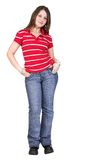 Casual young girl - full body Royalty Free Stock Image