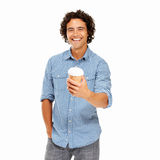 Casual young guy on the go Stock Photo