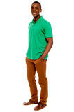 Casual young guy posing with hands in pocket Royalty Free Stock Images