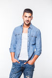 Casual young hansome man isolated Stock Photos