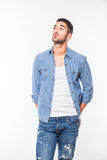 Casual young hansome man isolated Royalty Free Stock Photo