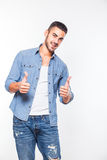 Casual young hansome man isolated Stock Image