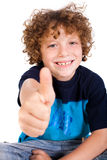 Casual young kid showing thumbs up Stock Photos