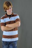 Casual young man. Portrait of casual young man with serious expression Stock Photography
