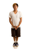 Casual Young Man. Studio shot over white Stock Photo