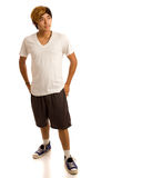 Casual Young Man. Studio shot over white Royalty Free Stock Image