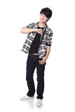 Casual young man in full body Royalty Free Stock Images