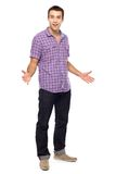 Casual young man gesturing Stock Photos