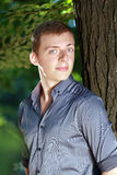 Casual young man. Ordinary casual young man outdoors Royalty Free Stock Image