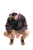 Casual young man. Posing isolated in white Royalty Free Stock Image