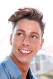 Casual young man smiling Stock Photos