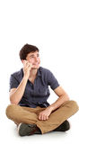 Casual young man speaking on the phone Stock Photography