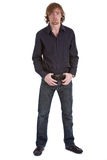 Casual young man standing Royalty Free Stock Photo