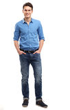 Casual young man standing Stock Images