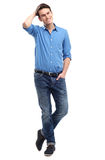 Casual young man standing Royalty Free Stock Photos