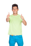 Casual young men saying Ok Royalty Free Stock Photo