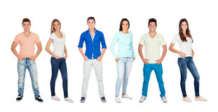 Casual and young people Stock Photo