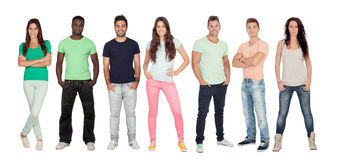 Casual young people stock photography