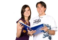 Casual young students Stock Images