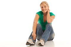 Casual young woman Stock Image