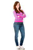 Casual young woman Royalty Free Stock Image