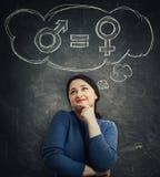 Gender equality concept royalty free illustration