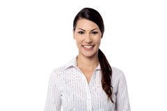 Casual young woman posing over white Royalty Free Stock Photo