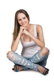Casual young woman Stock Photography