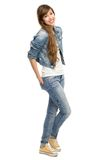 Casual young woman standing Stock Photo