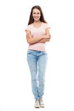 Casual young woman standing Stock Photography