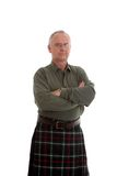 Casually dressed but serious Scotsman Stock Photography