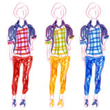 Casually Dressed Woman stock illustration