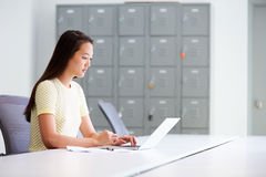 Casually Dressed Woman Working In Design Studio Royalty Free Stock Photography