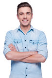 Casually handsome. Royalty Free Stock Photos