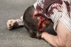 Casualty of terrorist attack Royalty Free Stock Images