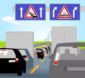 Casualty and traffic jam Stock Photography