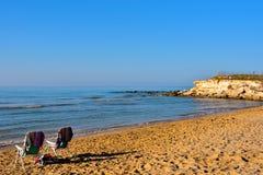 Casuzze beach sicily, italy. Casuzze beach between marina di ragusa and punta secca, sicily, italy stock image