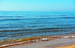 Casuzze beach sicily, italy. Casuzze beach between marina di ragusa and punta secca, sicily, italy royalty free stock image