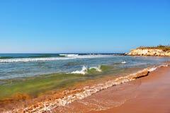 Casuzze beach sicily, italy. Casuzze beach between marina di ragusa and punta secca, sicily, italy stock photography