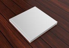 Catálogo branco vazio, compartimentos, livro para a apresentação ascendente do projeto da zombaria 3d rendem a ilustração Fotos de Stock