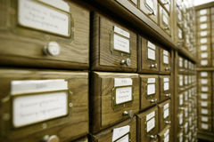 Catálogo de biblioteca Fotografía de archivo
