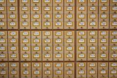 Catálogo de biblioteca Fotografia de Stock