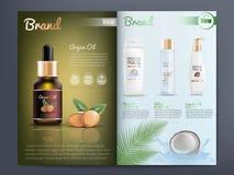 Catálogo de produtos dos cosméticos ou molde do folheto ilustração do vetor