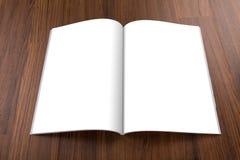 Catálogo en blanco, folleto, revistas, mofa del libro para arriba fotografía de archivo