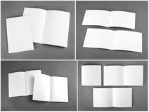 Catálogo en blanco, folleto, revistas, mofa del libro para arriba fotos de archivo libres de regalías