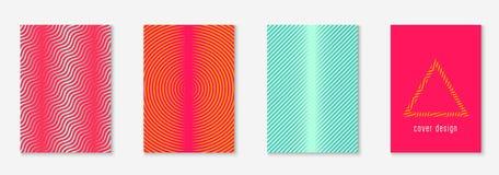 Catálogo moderno con la línea geométrica minimalista y formas de moda stock de ilustración
